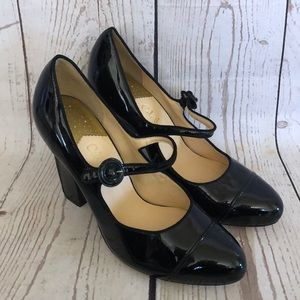 Cole Haan Black Patent Leather Mary Jane Pumps